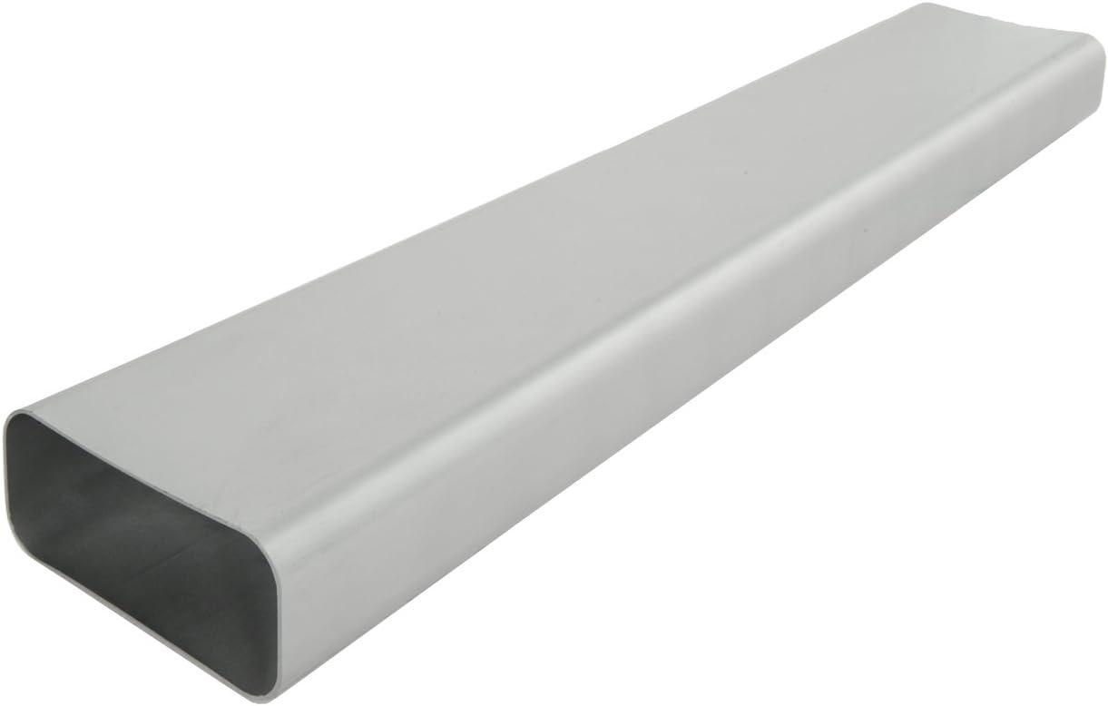 La Ventilazione - Tubo de ventilación canalizado rectangular de PVC, plateado, CT157AC