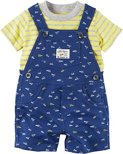 Carter's Baby Boys' 2-Piece Set Overall and Top 6 Months