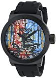 Kenneth Cole REACTION Men's RK1251 Street Collection Round Analog Custom Graphic Silicone Watch