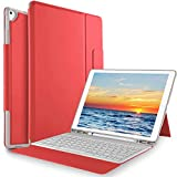 KuGi Keyboard case for ipad pro 12.9 - Ultra Lightweight One-Piece Wireless Keyboard Stand Case for Apple ipad pro 12.9 (2018 Release) - Red