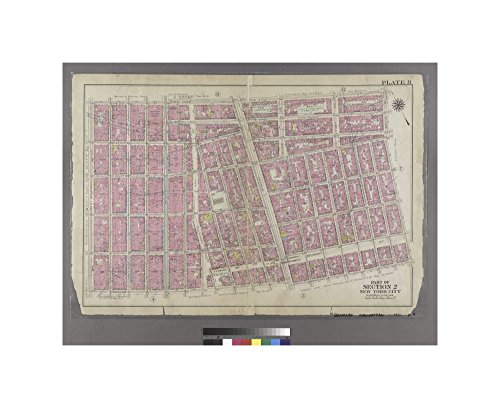 1911 map of Philadelphia Plate 8: Bounded by W. 3rd Street, Great Jones Street,E. 3rd Street, Avenue A, Essex Street, Broome Street, and West Broadway. G.W. Bromley & Co. - West Broadway And Broome