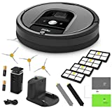 iRobot Roomba 960 Vacuum Cleaning Robot + Dual Mode Virtual Wall Barrier (With Batteries) + 3 Extra Side Brushes + 4 Extra HEPA Filters + A Set Of AeroForce Extractors + More