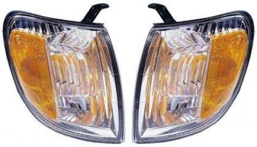 (Go-Parts PAIR/SET OE Replacement for 2000 - 2004 Toyota Tundra Turn Signal Lights Assemblies / Lens Cover - Front Left & Right (Driver & Passenger) Side - (Standard Cab Pickup + Extended)