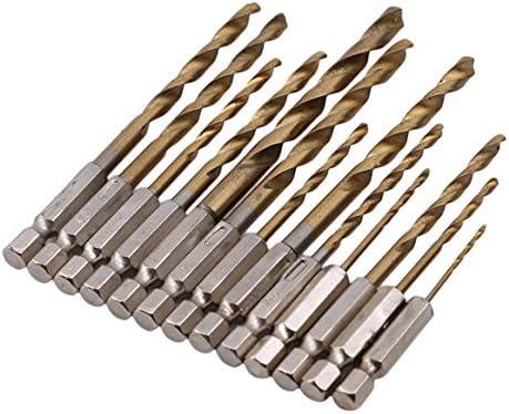 Botreelife 13 Stücke Bohrer Set Handwerkzeuge Holzbearbeitung Elektrowerkzeug Zubehör Metall Bohren Loch Bohrer