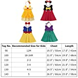 Baby Girls Princess Costume Minnie Snow White Belle Mermaid CosplayFancy Dress Up Birthday Party Outfit Playwear