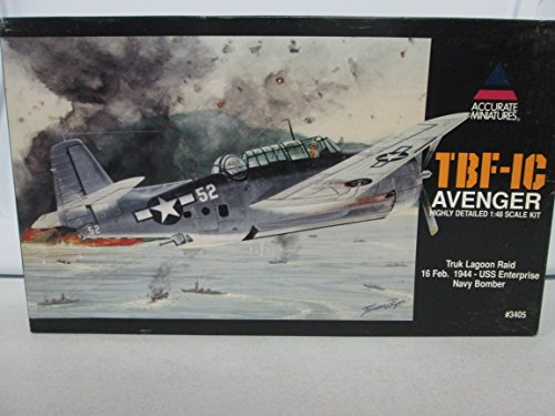 Accurate Miniatures TBF-IC Avenger Highly Detailed 1:48 Scale Kit