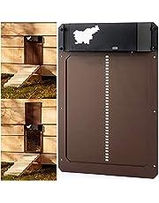 Automatic Chicken Coop Door with Light Sensing, Battery Operated Chicken Coop Door, Waterproof Chicken Coop Door, Evening and Morning Delayed Opening Timer, Auto Door Opener Kit