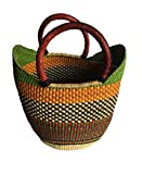 Large Yikene Shopper - Ghana Bolga Basket Fair Trade - 16''-19'' Across