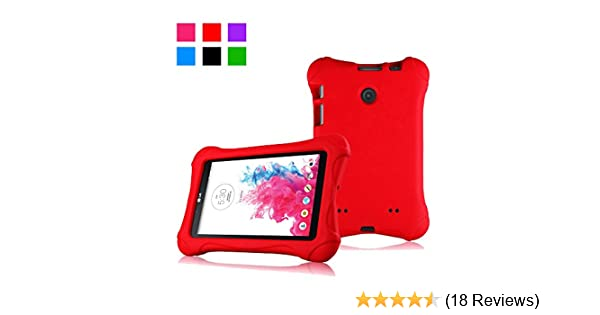 Amazon Com Bolete Lg G Pad 7 0 Protective Case For Lg G Pad V400 V410 Lte Uk410 Vk410 Lk430 7 Inch Android Tablet Red Computers Accessories