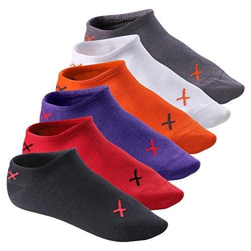 6 Paar CFLEX LIFESTYLE Invisible Sneaker Socks Poppy Iridium Mix-39-42