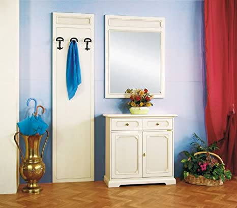 Abbinamento di mobili per ingresso colore bianco: credenza 2 ante ...