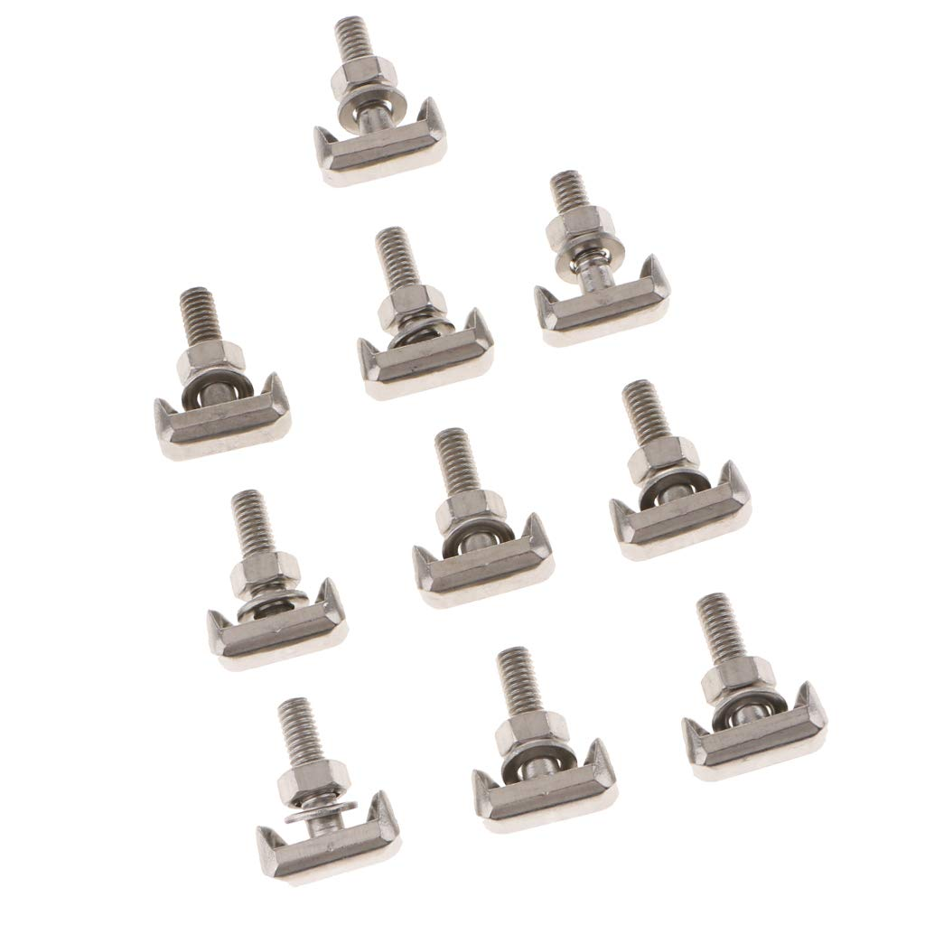 F Fityle For Audi Cadillac Chevrolet VW BATTERY POST TERMINAL CLAMP T-BOLT FASTENER
