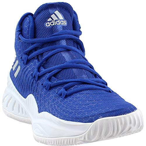 adidas Crazy Explosive 2017 NBA/NCAA Shoe - Men's Basketball 11 Blue/Silver Metallic/White