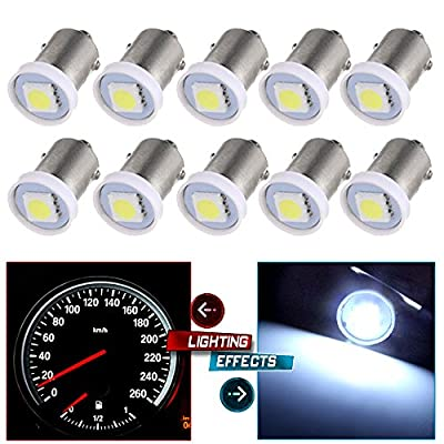 cciyu 10X BA9S LED SMD 1895 DASH INSTRUMENT PANEL CLUSTER Ash Tray Light Bulbs 1815 1816 182 1889 1891 1892 Replacement fit for Instrument panel Glove box License plate Boat cabin lamp Blue (white): Automotive
