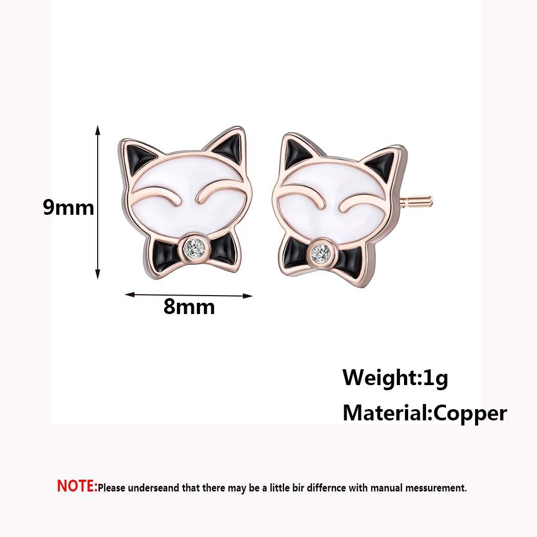 Chengxun Tiny Cute Cat Ear Stud Earrings Lovely Gifts Bohemia Jewelry