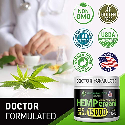 514CzxgW1BL - Extra Strength Hemp Cream for Pain Relief - Only 3rd Party Tested Product To Verify Strength/Results. All Natural for Nerve-Sciatic, Muscle, Back Pain & Inflammation, with Arnica, MSM, Emu, Turmeric