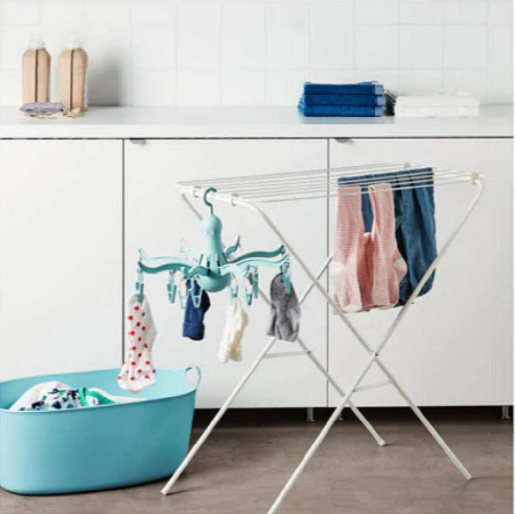 PRESSA IKEA Secador colgante 16 pinzas para ropa, turquesa/azul ...