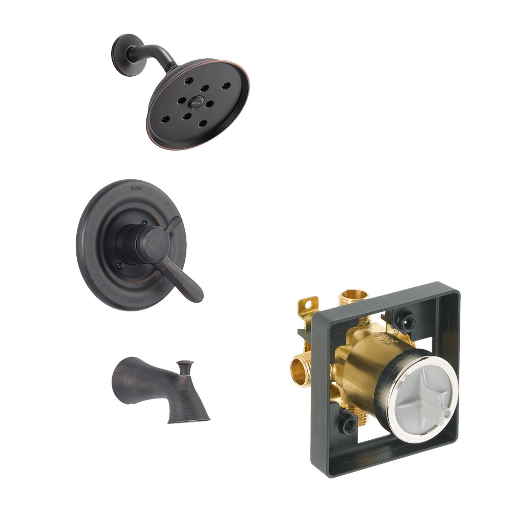Delta Delta KTSDLA-T17438H2O-RB Lahara Tub//Shower Kit Pressure-Balance Dual-Function Cartridge Venetian Bronze Venetian Bronze