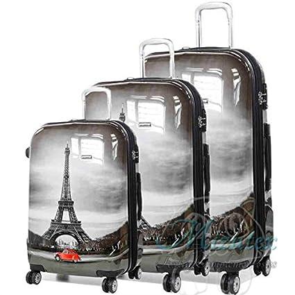 Set de maletas de viaje Paris, ABS 4 ruedas trolley. Oferta ...