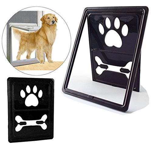 REENUO Pets/Dogs Flap Door Magnetic Automatic Lock/Lockable Pet Screen Door Dog Gate Way Pet Door for Screens