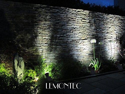 buy popular 2e52c 2c4e4 Lemontec Solar Lights, 2-in-1 Adjustable 4 LED Wall and Landscape Light;  Spotlight Bright-and-Dark Sensing Auto On/Off Security Lighting; Ideal for  ...