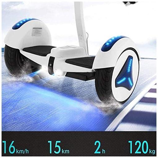 LYYJIAJU Auto Scooter équilibre 54V Auto équilibrage Scooter Hover Board Auto-équilibre – UL2272 certifié, 10 Pouces Big Caster, Hoverboard Robuste Etat de la Route (avec Levier rétractable Main)