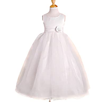 Amazon dressy daisy girls empire waist wedding flower girl dressy daisy girls empire waist wedding flower girl dresses pageant party dress size 2t white mightylinksfo