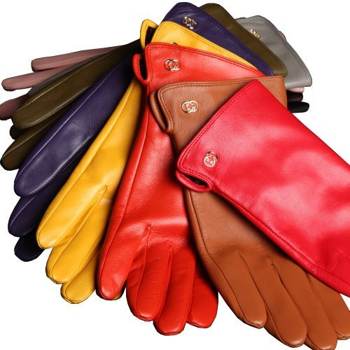 Vintage Style Gloves WARMEN Womens Genuine Nappa Leather Winter Warm Simple Plain Style Lined Gloves $19.99 AT vintagedancer.com