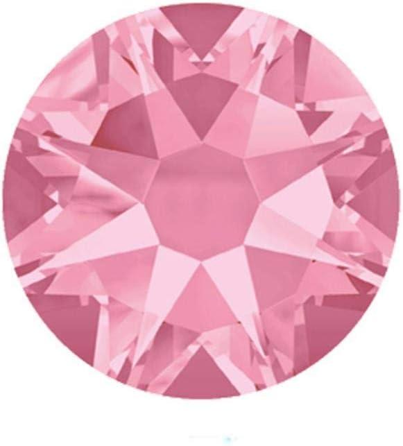 PENVEAT 2088 Facetas Cortadas SS16, SS20, SS30 Sin Diamantes de imitación hotfix 8 Grandes 8 Piedras Decorativas de pedrería de Cristal Plano pequeño, Rosa Claro, ss20 1440 Piezas