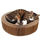 Aolan Cat Scratcher and Bed Cat Scratcher Scratch, Snuggle, and Rest