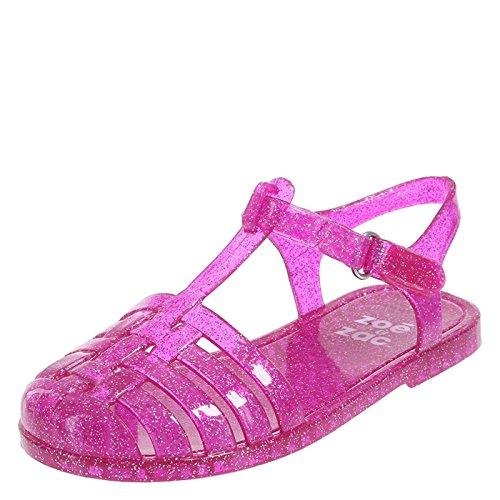 Jelly Pink Medium - Zoe and Zac Pink Girls' Toddler Emmy Jelly Sandal 11 Regular
