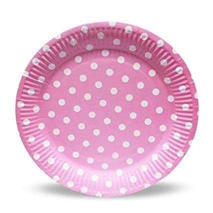 smartcraft Polka Dot Paper Plates (Pink) - Pack of 20  sc 1 st  Amazon.in & smartcraft Polka Dot Paper Plates (Pink) - Pack of 20: Amazon.in ...