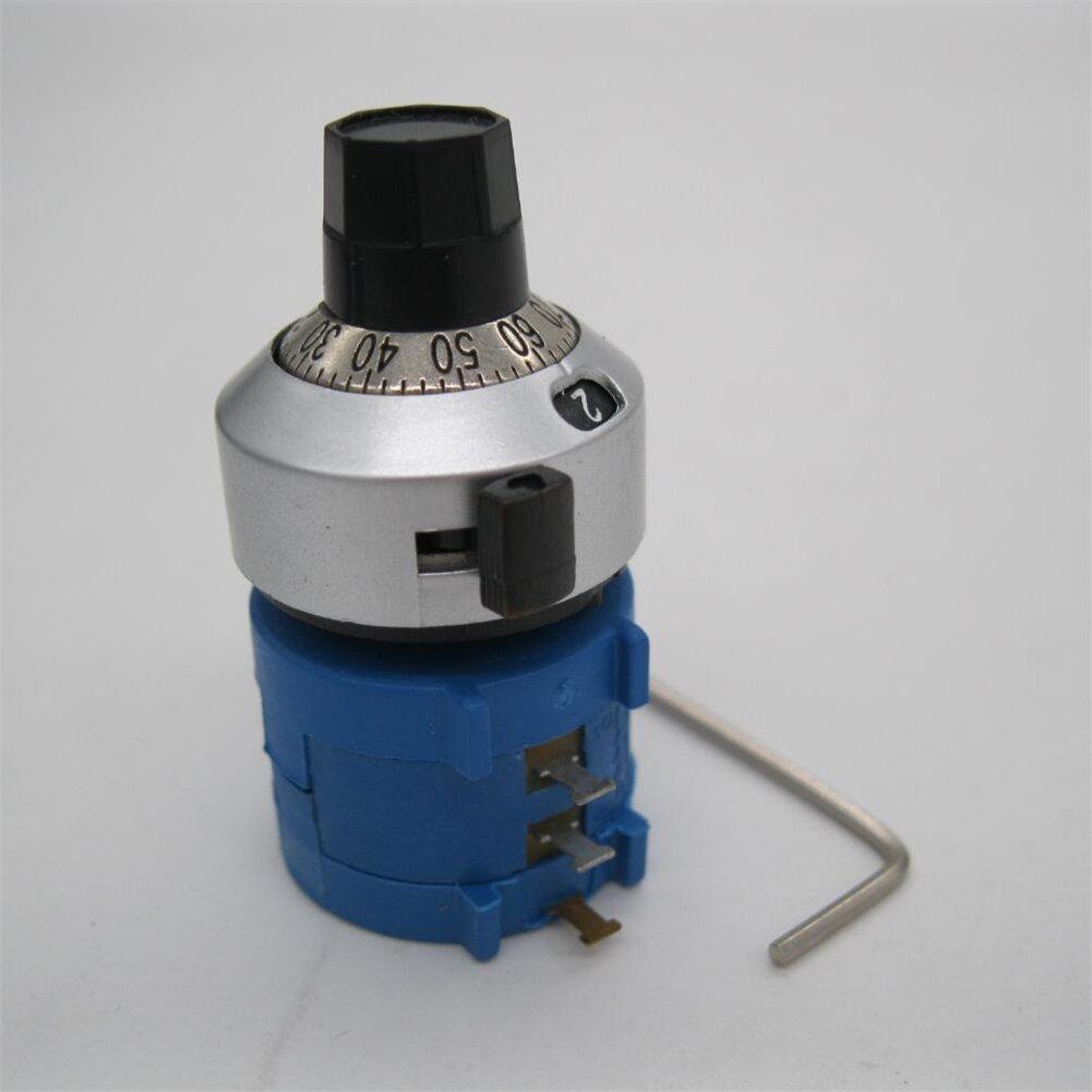 Tiass//10-Gang Multiturn-Pr/äzisionspotentiometer mit Drahtwicklung und einstellbarem 10-Ring-Widerstandsz/ählknopf 3590S-2-102L 1K Ohm