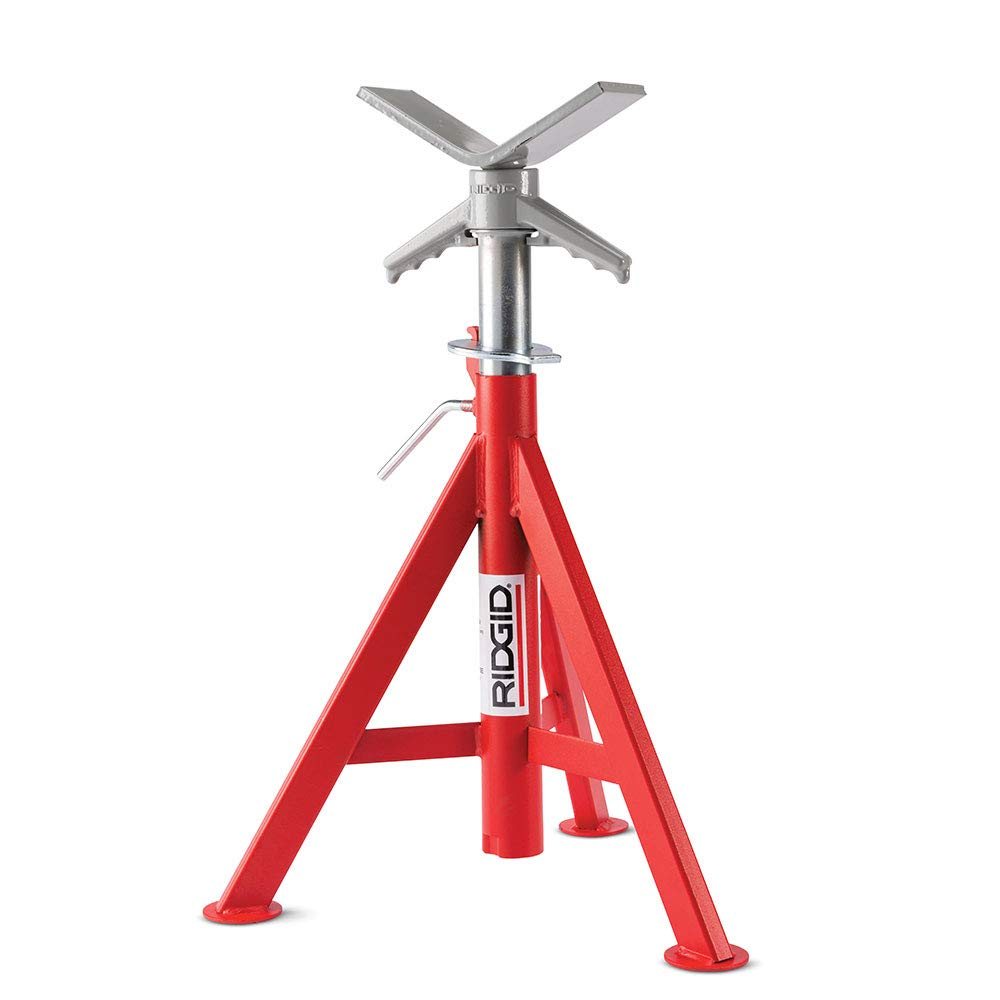 Ridgid 56657 VJ-98 Roller Head Low Pipe Stand with 20-Inch-38-Inch Height Adjustment by Ridgid