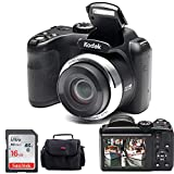 Kodak PIXPRO AZ252 Point & Shoot Digital Camera with 3' LCD (Black) and 16GB SD Card and Case