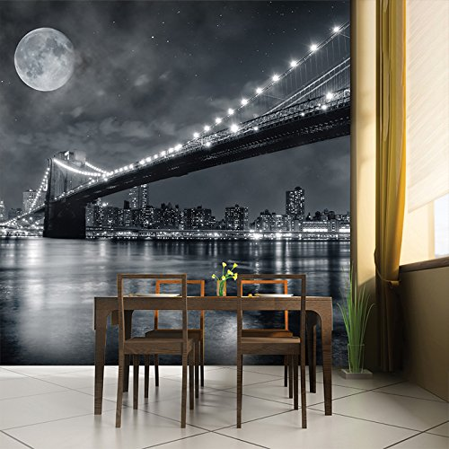 Brooklyn Bridge New York Skyline Cityscape Wall Mural Travel Photo Wallpaper available in 8 Sizes Gigantic Digital by azutura (Image #1)
