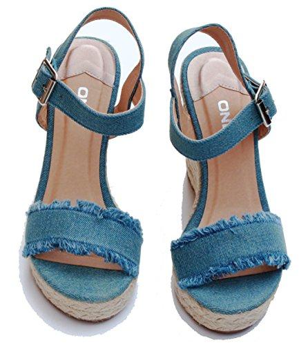 Vestir Only Mujer Para 15131337 Azul De Sandalias Zntn8