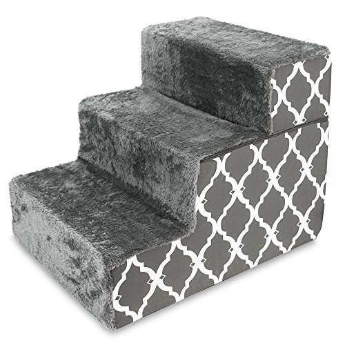 Best Pet Supplies - Dark Grey with Lattice Print Foldable Pe