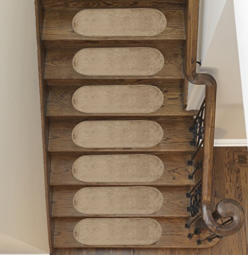 Ottomanson Softy Collection Stair Tread, 9'' X 26'' Oval, Beige, 14 Pack by Ottomanson (Image #7)