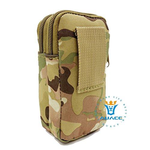 Multifunktions Survival Gear Tactical Beutel MOLLE Tasche zwei Schichten Military Handy Tasche, Outdoor Camping Tragbare Travel Bags Handtaschen Werkzeug Taschen Taille Tasche Handytasche CP