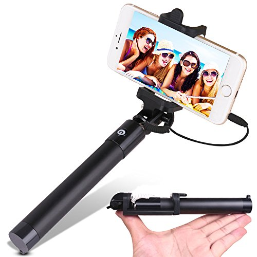 selfie stick yoyamo wired selfie stick for iphone 6s 6s plus 6 6 plus 5s ga. Black Bedroom Furniture Sets. Home Design Ideas