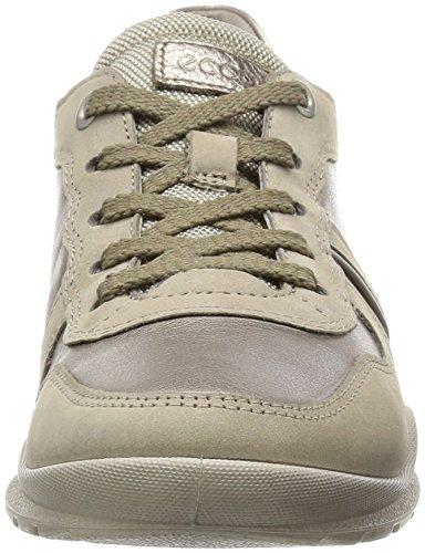 Ecco ECCO MOBILE III - zapatos con cordones de cuero mujer beige (MOON ROCK/M.ROCK/WARM GREY/W.GREY M59267)