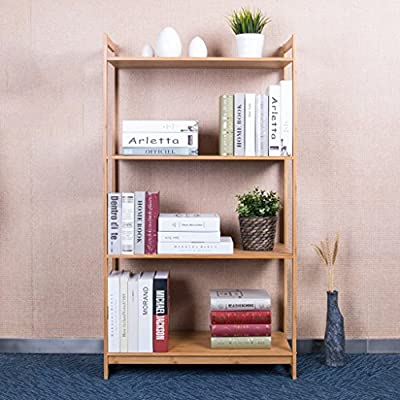 QWERDD Living Room Marco de bambú estantería Creativa Cocina del ...