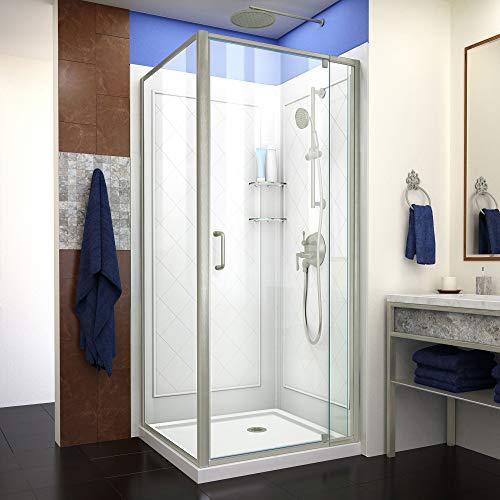 Dreamline DL-6716-04CL Flex Shower Enclosure, Base and Backwalls 32