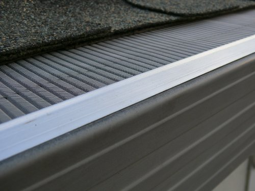 LeafsOut WIDE Micro Mesh Rain Gutter Guard for 6 Gutters, 23 Feet. DIY Install it yourself Leaf Cover Protection System