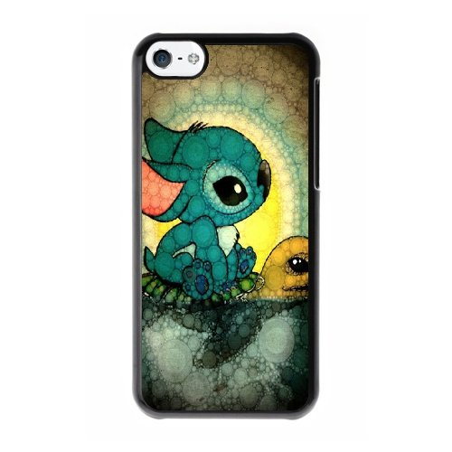 Coque,Coque iphone 5C Case Coque, Lilo And Stitch Turtle Cover For Coque iphone 5C Cell Phone Case Cover Noir