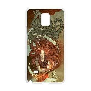 Samsung galaxy note 4 N9100 Little mermaid Phone Back Case Customized Art Print Design Hard Shell Protection FG084561
