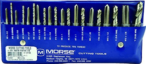 Morse Cutting Tools 37105 Tap and Drill Set, Metric Series, High Speed Steel, #105 Number by Morse Cutting Tools