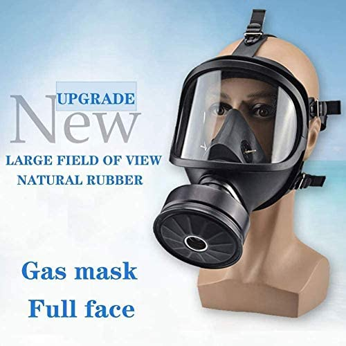 Amazon Com Full Face Respirator Military Spec Gas Mask Respirator Canister Widely Used In Organic Gas Paint Sprayer Chemical Woodworking Dust Protection Home Kitchen