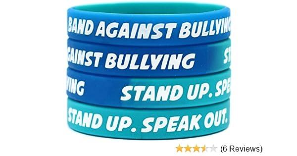 Single Band Against Bullying Wristband Anti Bullying Silicone Rubber Bracelet
